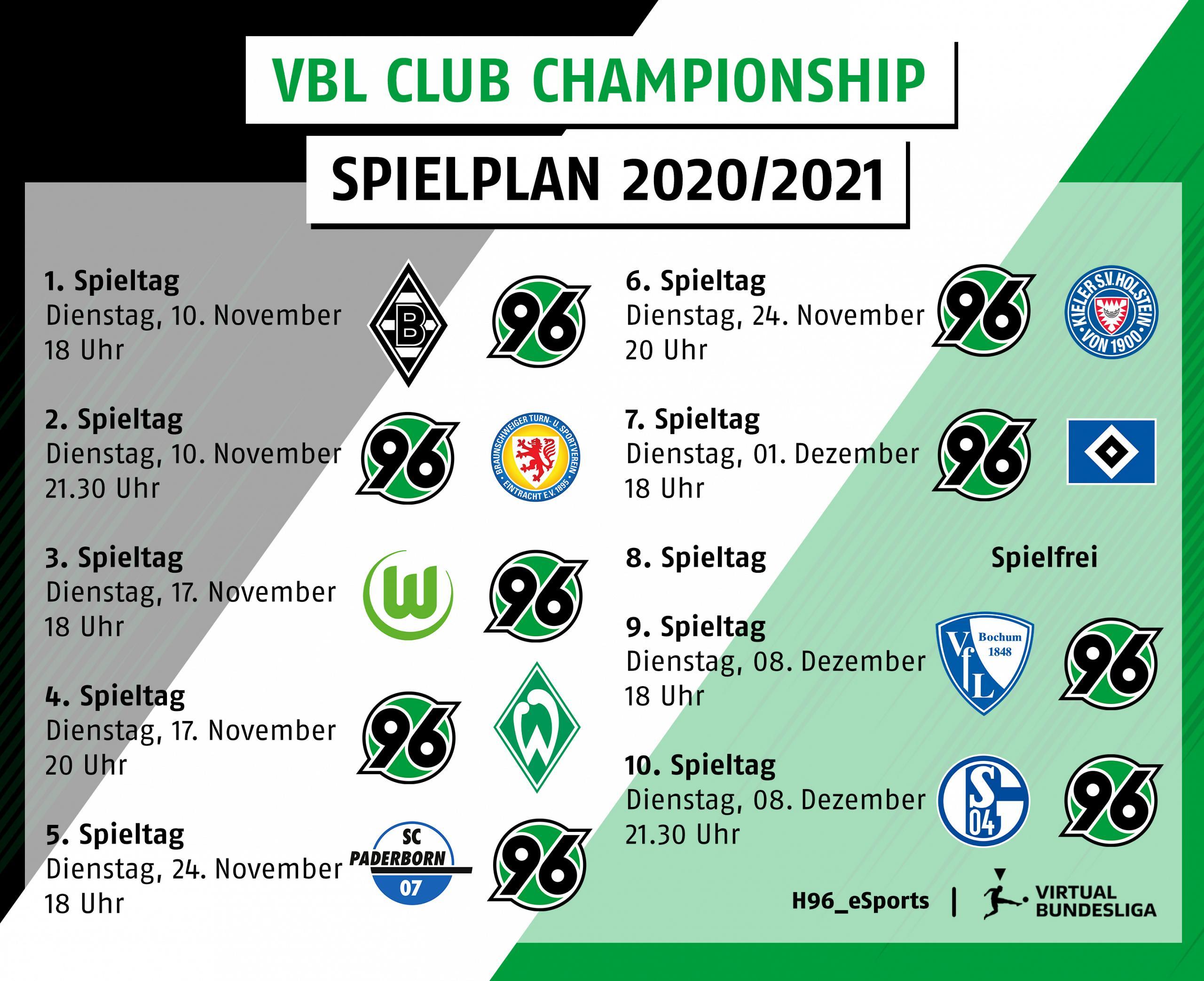 Spielplan Hannover96